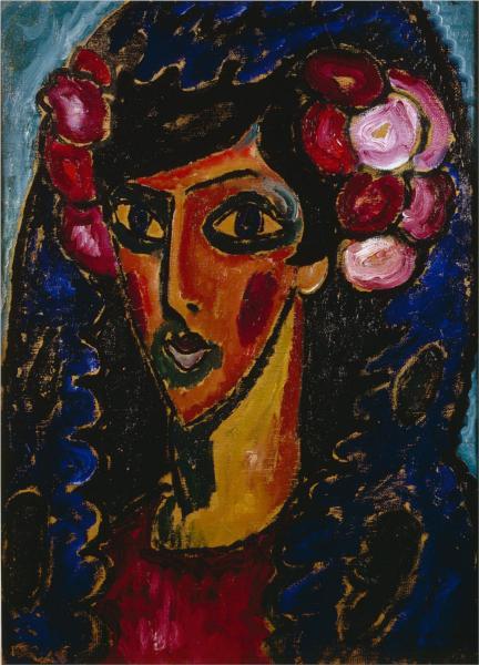 The Blue Mantilla, 1913 - Alexej von Jawlensky