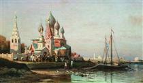 Easter procession in Yaroslavl - Alexey  Bogolyubov