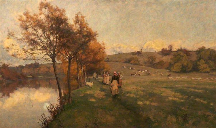 Meadows by the Avon - Alfred Parsons