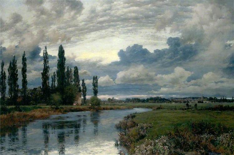 Poplars in the Thames Valley - Alfred Parsons