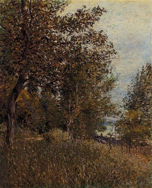 A Corner of the Roches Courtaut Woods, June, 1884 - Alfred Sisley