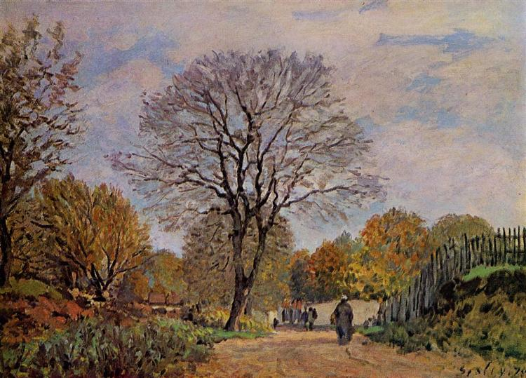 A Road in Seine et Marne, 1875 - Alfred Sisley