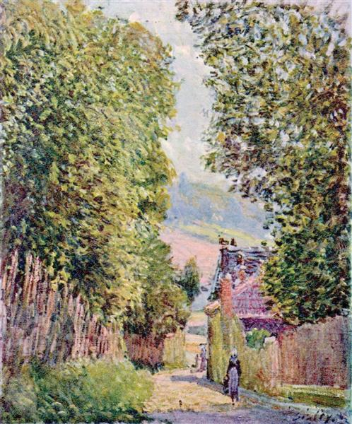 A Street in Louveciennes, 1878 - Alfred Sisley
