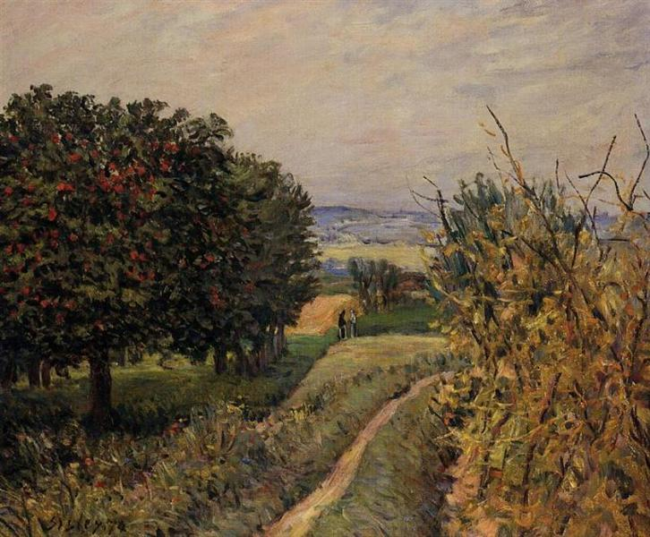 Among the Vines near Louveciennes, 1874 - Alfred Sisley