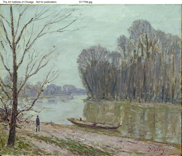 Banks of the Loing, Winter, 1896 - Alfred Sisley