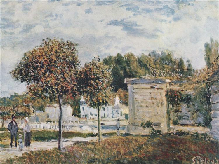 Bassin de Marly, 1875 - Alfred Sisley