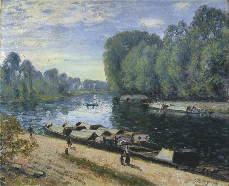 Boats on the Loing River, 1895 - Alfred Sisley