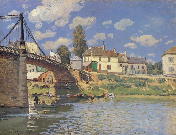 Bridge at Villeneuve-la-Garenne, 1872 - Alfred Sisley