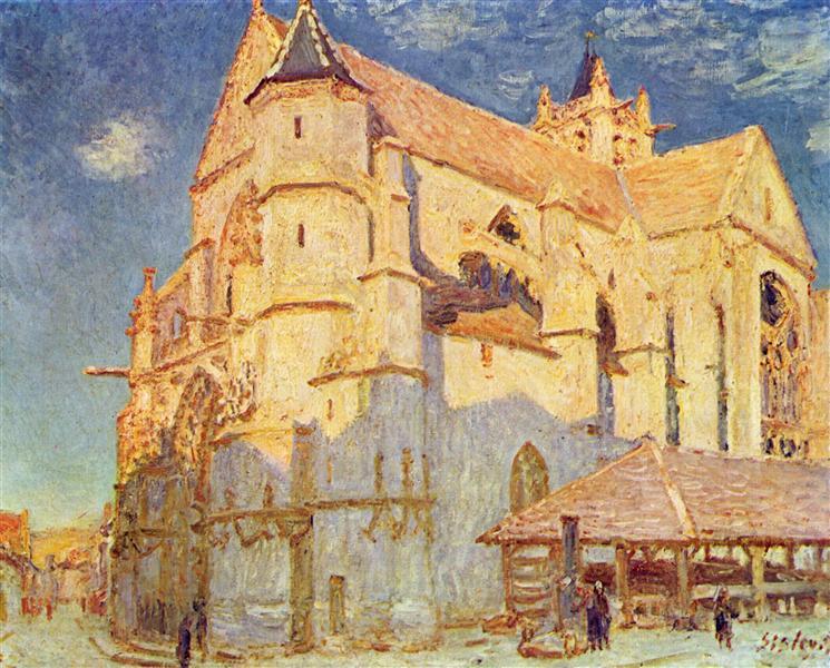 Church of Moret, 1893 - Alfred Sisley
