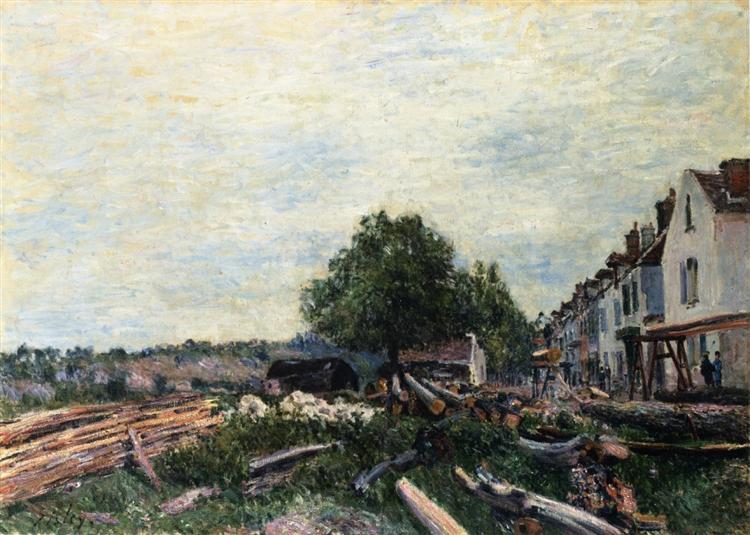 Construction Site at Saint Mammes, 1880 - Alfred Sisley