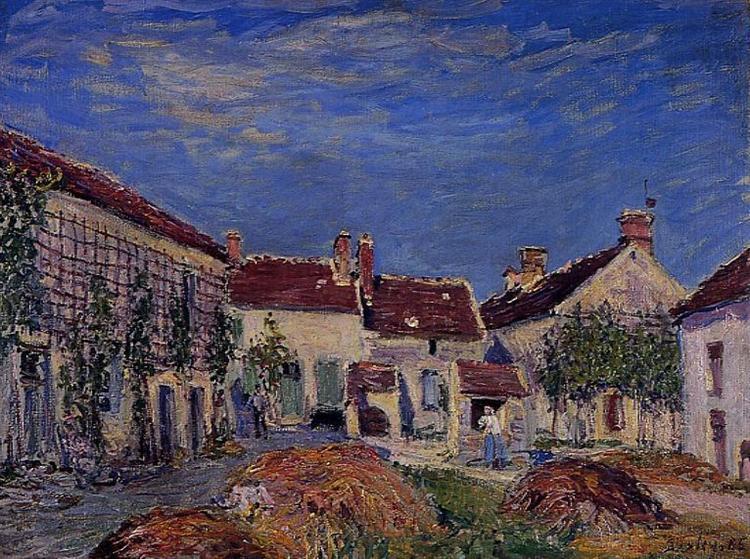 Courtyard at Les Sablons, 1885 - Alfred Sisley