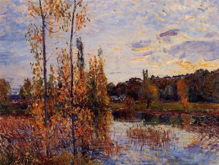 L Etang de Chevreuil, c.1888 - Alfred Sisley