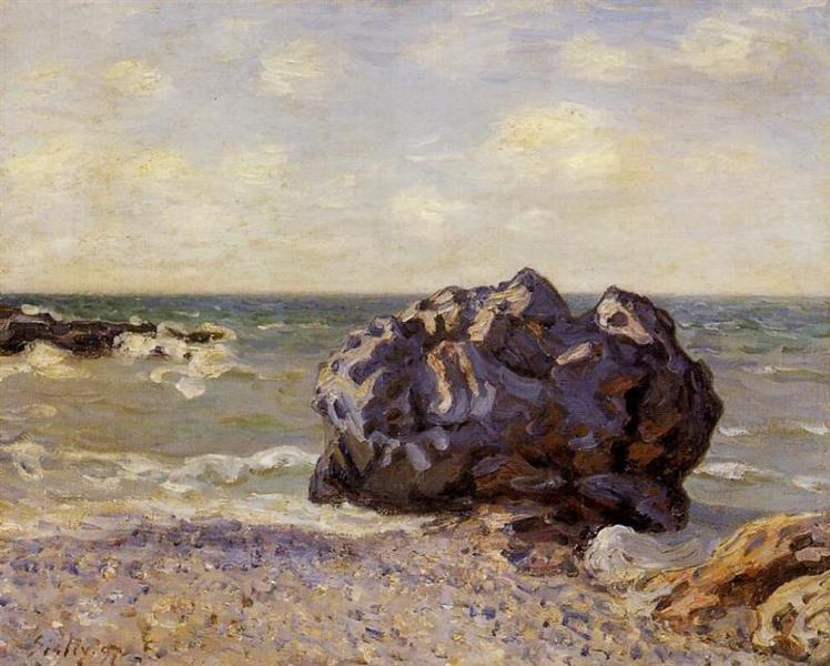Langland Bay, Storr s Rock, Morning, 1897 - Alfred Sisley