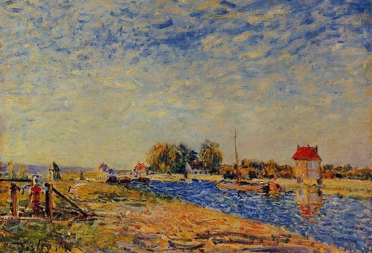 Morning Sun, Saint Mammes, 1884 - Alfred Sisley