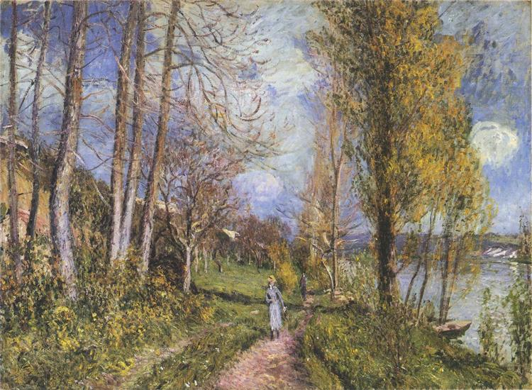Near the Seine at By - Alfred Sisley
