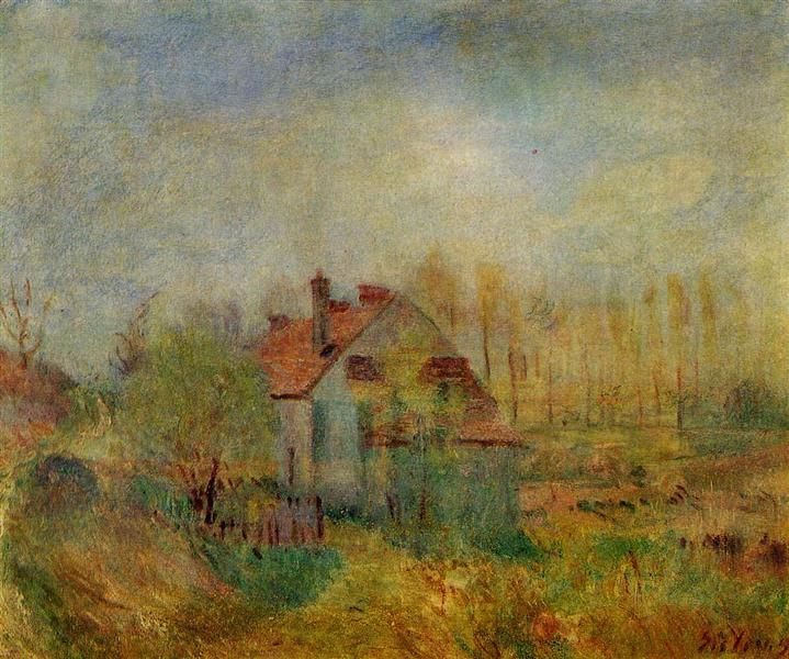 Springtime Scene Morning, 1890 - Alfred Sisley