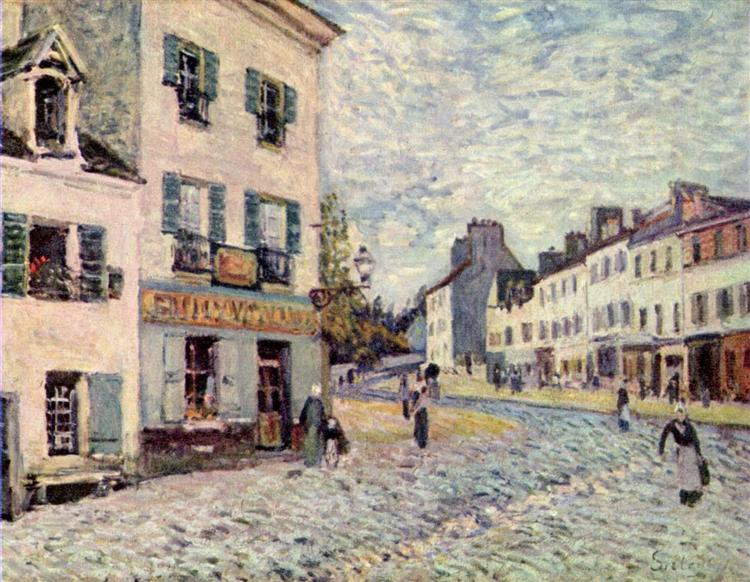 Street in Marly, 1876 - Alfred Sisley