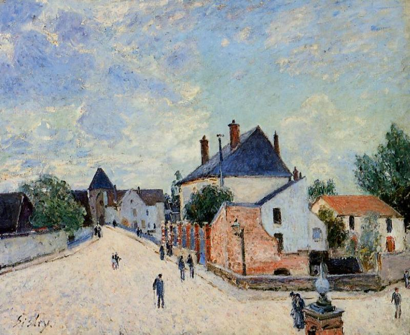 Street in moret porte de bourgogne from across the bridge - La porte de bourgogne moret sur loing ...