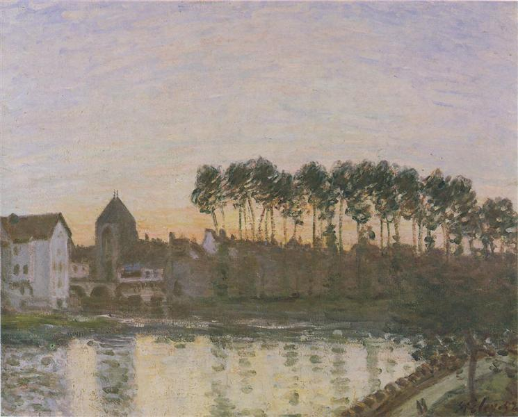 Sunset at Moret, 1877 - Alfred Sisley