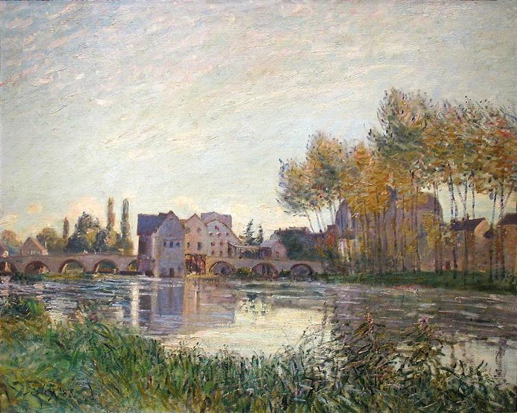 Sunset at Moret, 1888 - Alfred Sisley