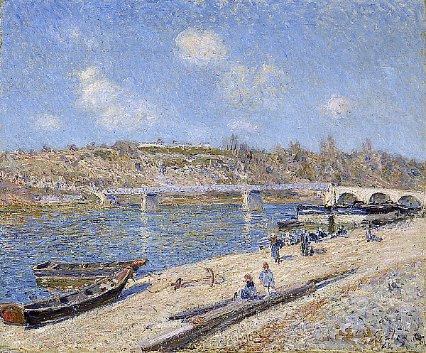 The Beach at Saint Mammès, 1884 - Alfred Sisley
