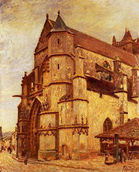 The Church at Moret, Rainy Morning, 1893 - Alfred Sisley