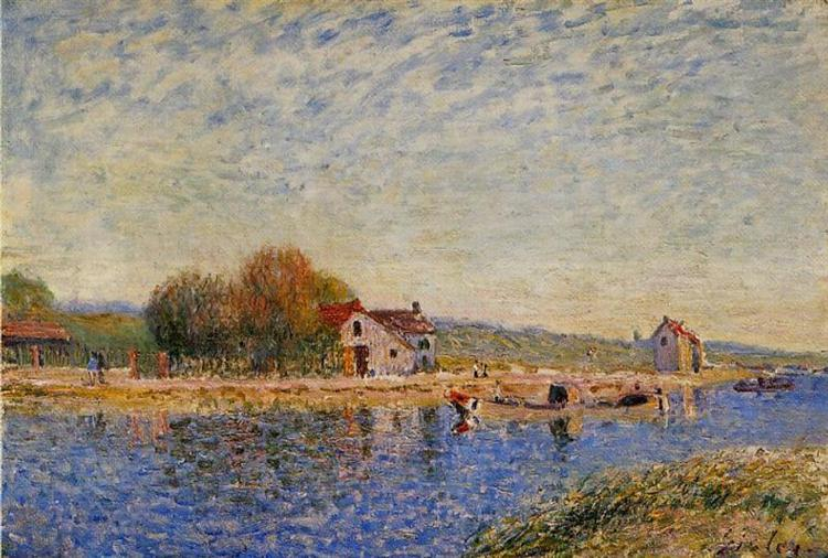 The Loing Canal, 1884 - Alfred Sisley
