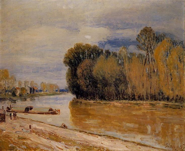 The Loing Canal, 1897 - Alfred Sisley