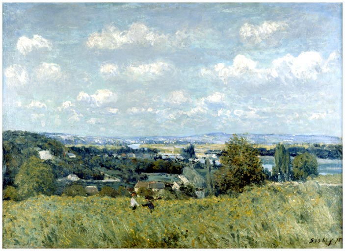 Valley of the Seine at Saint Cloud, 1875 - Alfred Sisley