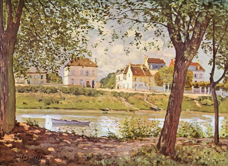 Village on the banks of the Seine, 1872 - Alfred Sisley