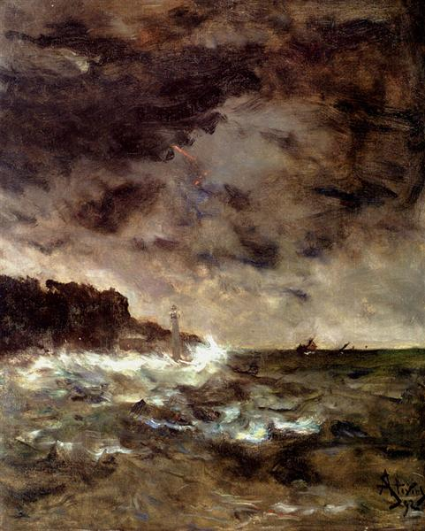 A Stormy Night, 1892 - Alfred Stevens