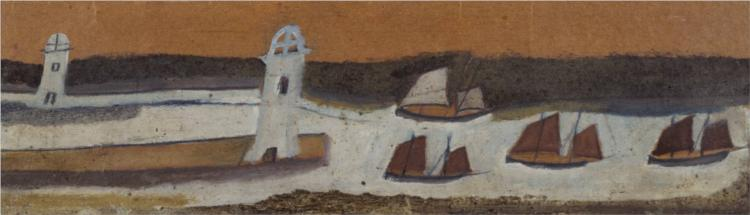 String of Boats, 1928 - Alfred Wallis