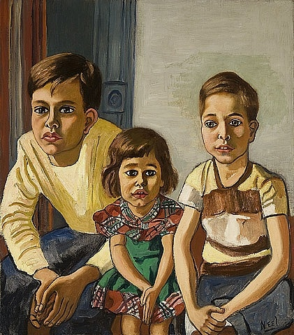 Robert, Helen and Ed, 1952 - Alice Neel