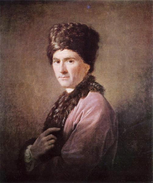 Jean Jacques Rousseau, 1766 - Allan Ramsay