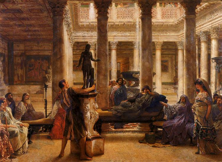 A Roman Art Lover, 1870 - Sir Lawrence Alma-Tadema