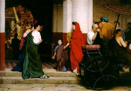 Entrance to a Roman Theatre - Sir Lawrence Alma-Tadema