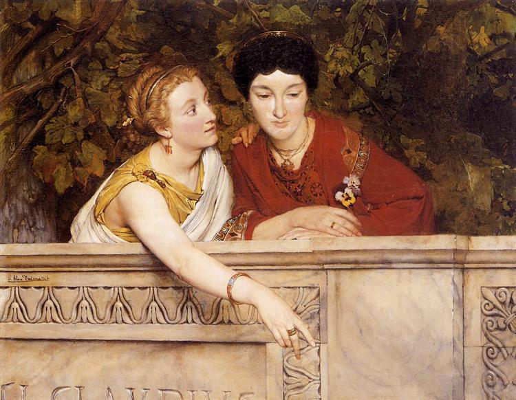Галло-романские женщины, 1865 - Лоуренс Альма-Тадема