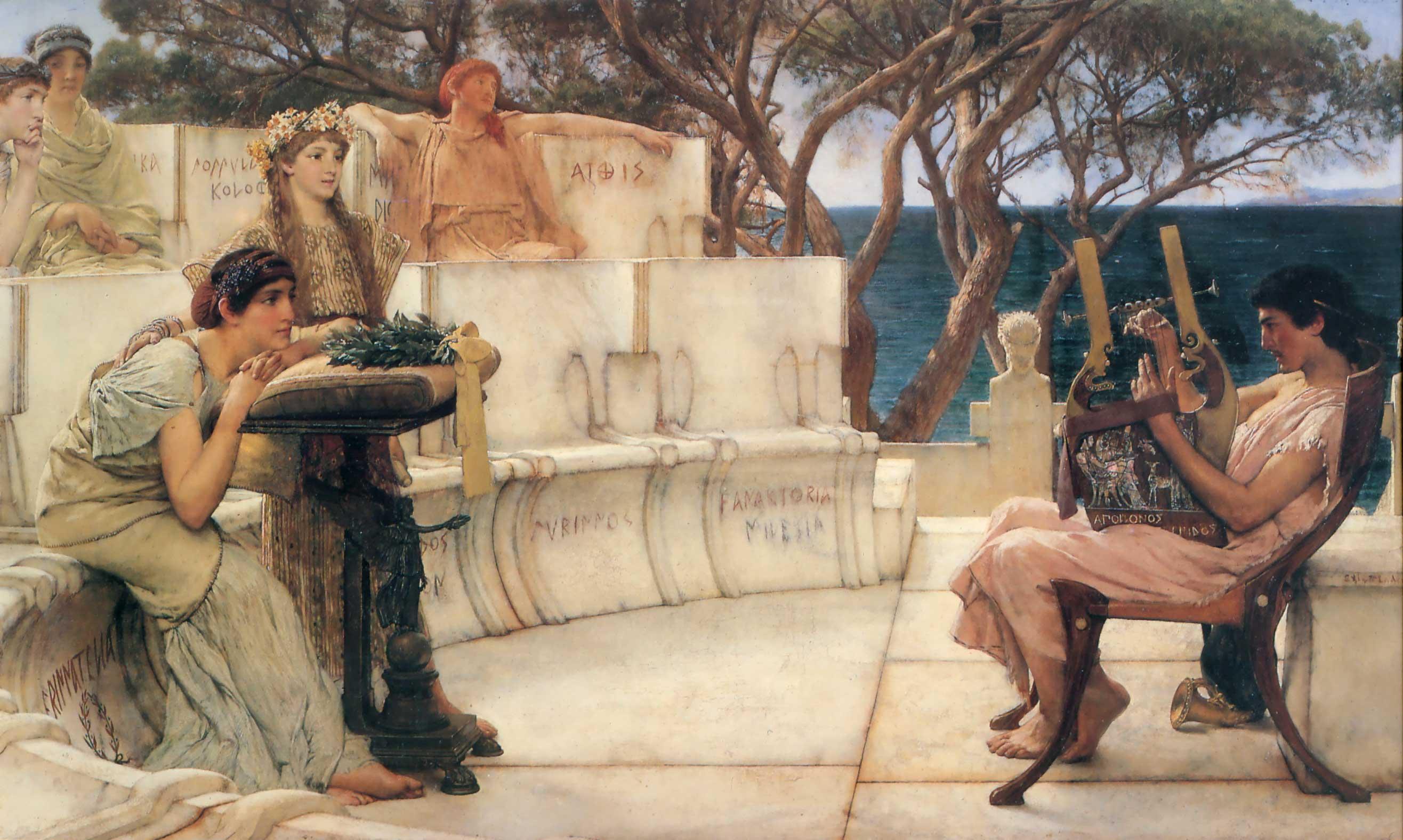 TEXTOS DE LA LITERATURA GRIEGA Sappho-and-alcaeus-1881