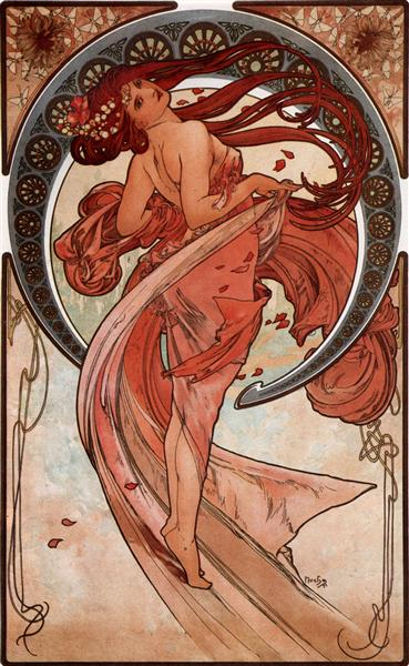 Dance, 1898 - Альфонс Муха