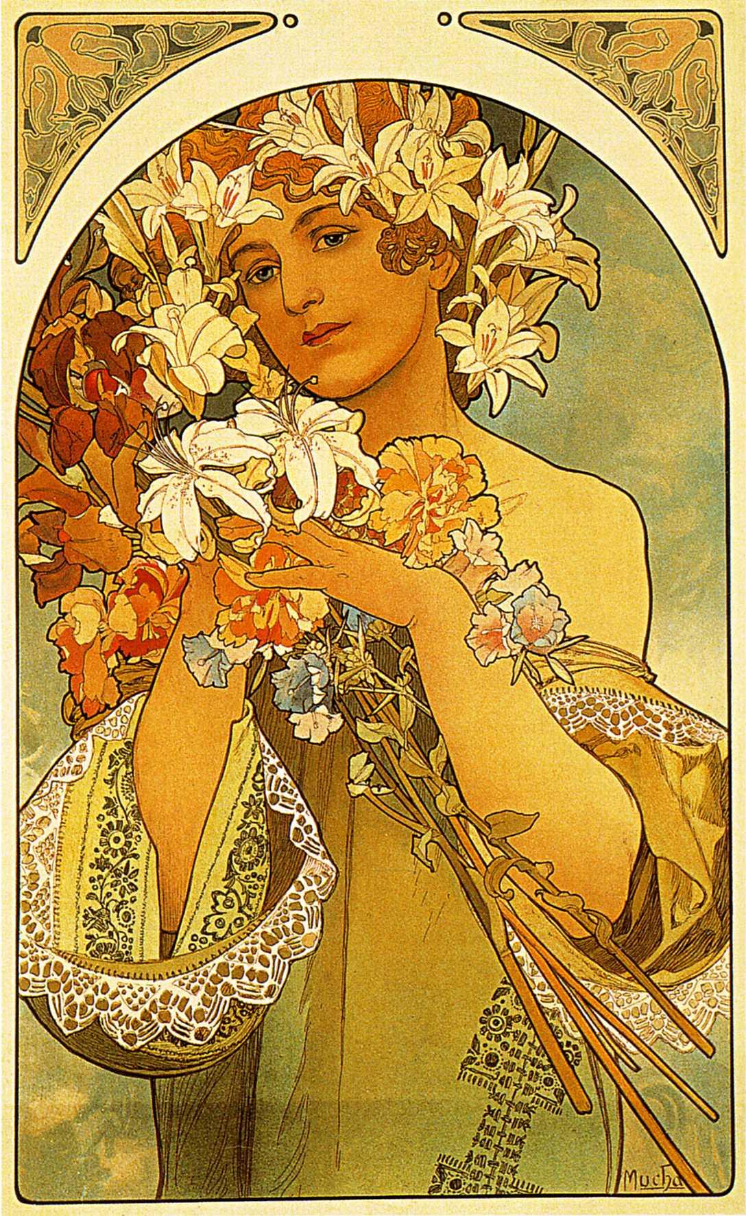 Flower, 1897 - Alphonse Mucha - WikiArt.org