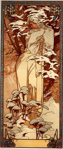 Winter - Alphonse Mucha