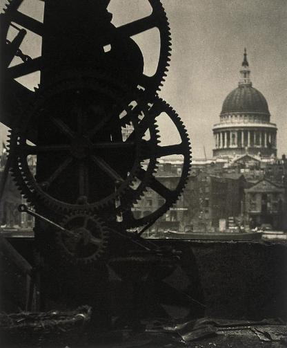 St. Paul's and Cogs, 1904 - Alvin Langdon Coburn