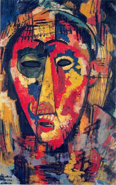 Green Eye Mask, 1915 - Amadeo de Souza-Cardoso