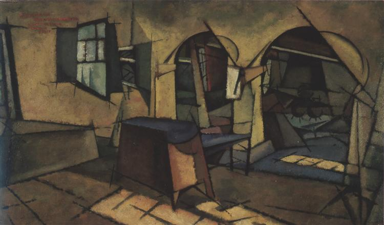The kitchen in the house Manhaus, 1913 - Amadeo de Souza-Cardoso