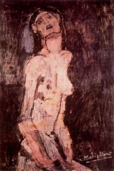 A suffering nude, c.1909 - Amedeo Modigliani