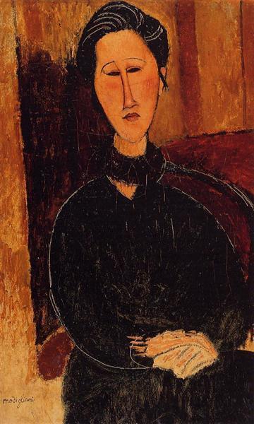 Anna (Hanka) Zabrowska, 1916 - Amedeo Modigliani