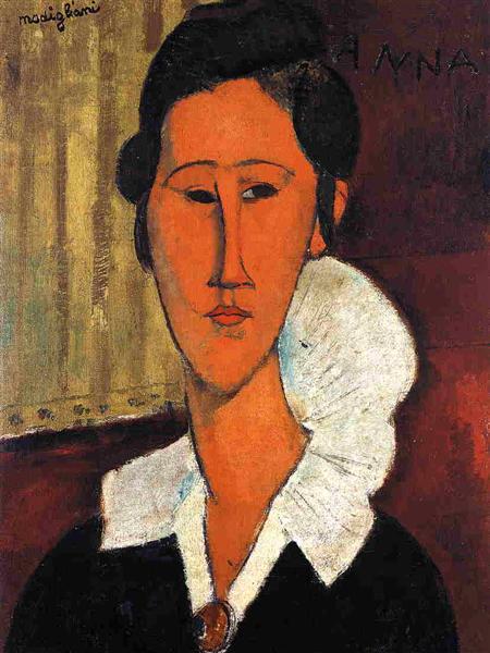 Anna (Hanka) Zborowska, 1917 - Amedeo Modigliani