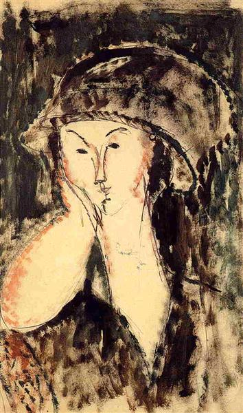 Beatrice Hastings Leaning on Her Elbow, 1914 - Amedeo Modigliani