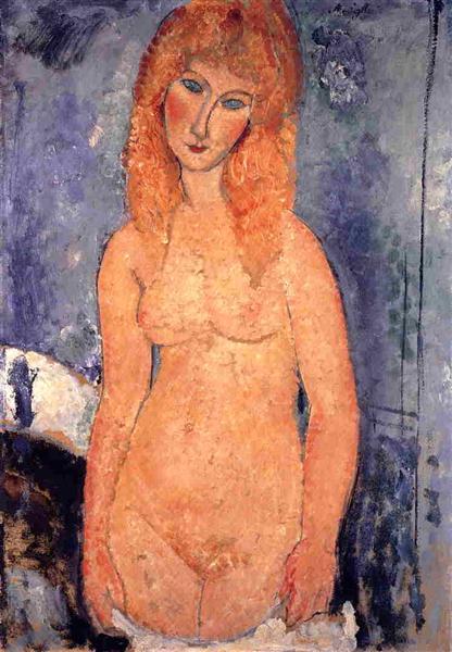 Blonde nude, 1917 - Amedeo Modigliani