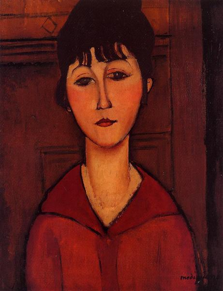 Head of a Young Girl, 1916 - Amedeo Modigliani